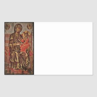 Madonna and Child Icon Rectangular Sticker