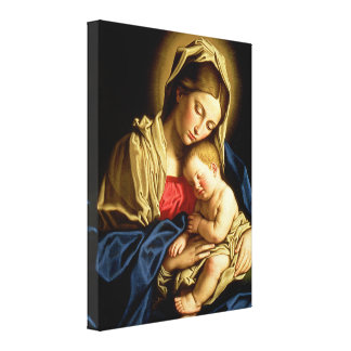 Madonna and Child Jesus - Sassoferrato Canvas Print