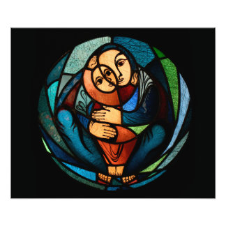 MADONNA AND CHILD multicolored simbol Photograph