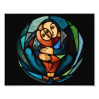 MADONNA AND CHILD multicolored simbol Photo Print