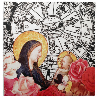 madonna and child napkin