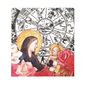 madonna and child notepad