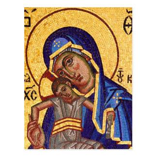 madonna and child postcard