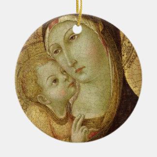 Madonna and Child Round Ceramic Decoration