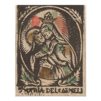 Madonna and child - spanish 15th century card