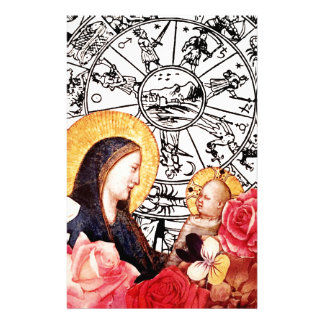 madonna and child stationery