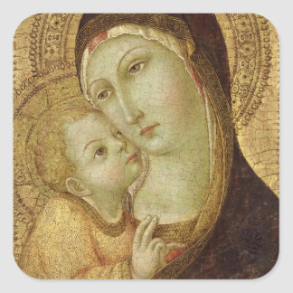 Madonna and Child Square Sticker