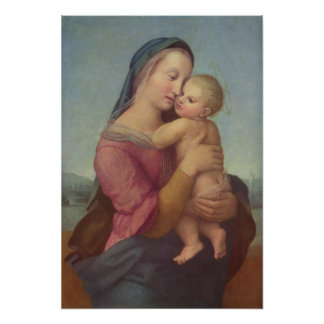 Madonna and Child (The Tempi Madonna) by Raphael Poster