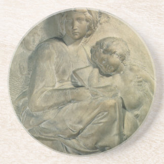 Madonna and Child, Tondo Pitti by Michelangelo Coaster
