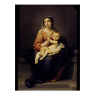 Madonna and Child - Virgin Mary - Murillo Poster