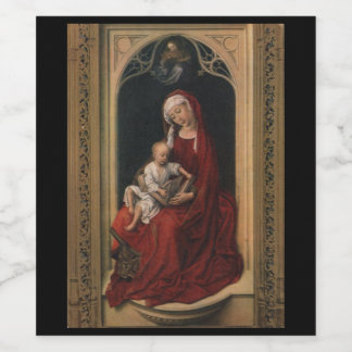 Madonna and Child Wine Bottle Label