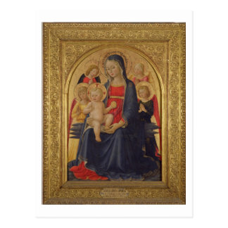Madonna and Child with Angels, c.1467 (oil on pane Postcard