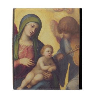 Madonna and Child with Angels c.1510-15 (oil on pa iPad Folio Cases