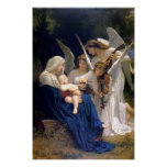 Madonna and Child with angels poster