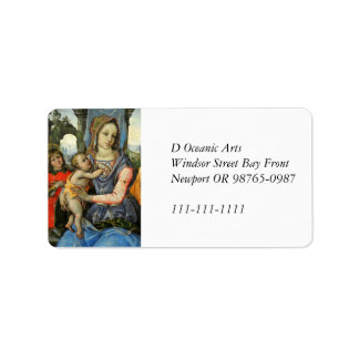 Madonna and Child with Label