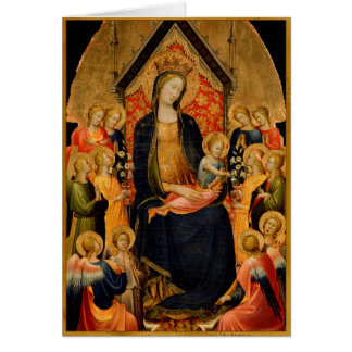 Madonna and Child with Musical Angels Card
