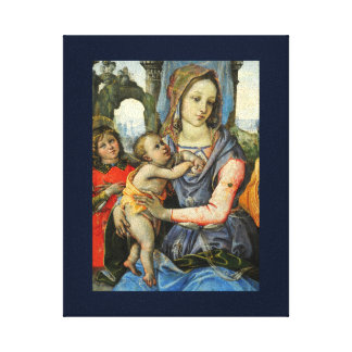 Madonna and Child with Saint Joseph and an Angel Canvas Print