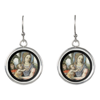 Madonna and Child with Saint Joseph and an Angel Earrings