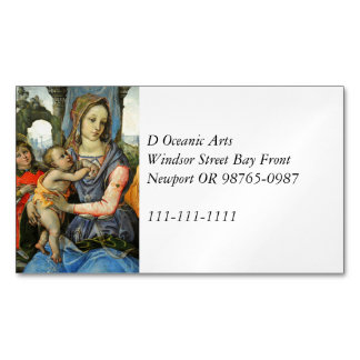 Madonna and Child with Saint Joseph and an Angel Magnetic Business Card