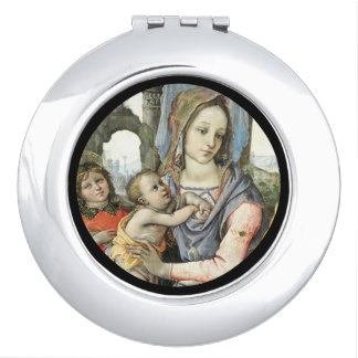 Madonna and Child with Saint Joseph and an Angel Mirrors For Makeup