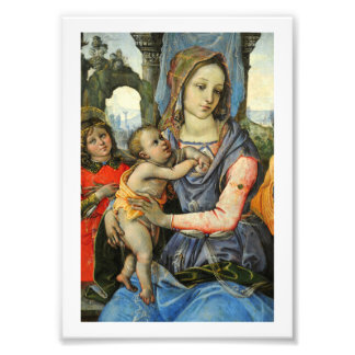Madonna and Child with Saint Joseph and an Angel Photo Print