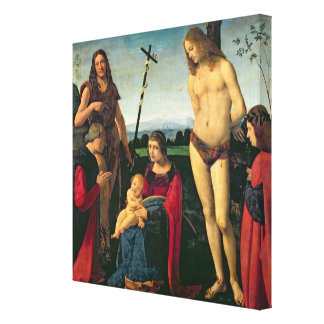 Madonna and Child with SS. John the Baptist and Se Canvas Print