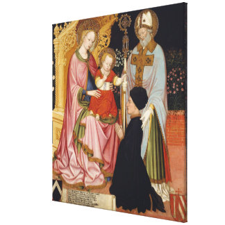 Madonna and Child with the Donor Canvas Print