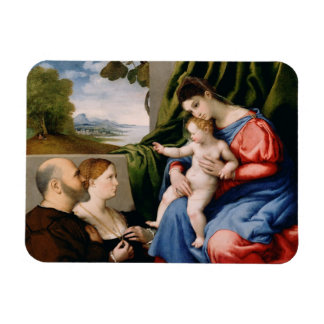 Madonna and Child with the Infant Saint John Rectangular Photo Magnet