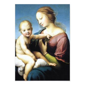Madonna and Christ Child Sitting Outside 13 Cm X 18 Cm Invitation Card