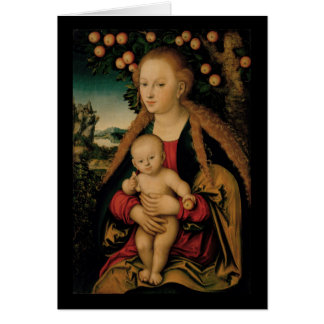 Madonna and Christ Child Under Apple Tree Card