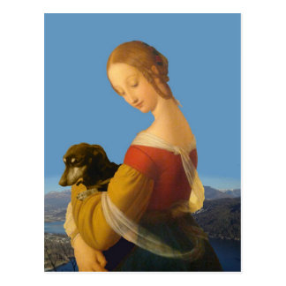 Madonna and Dachshund Art Tate Britain Postcard
