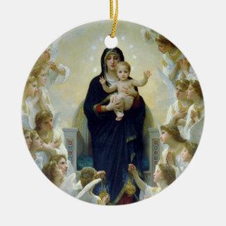 Madonna + Angels, Bouguereau Ceramic Ornament