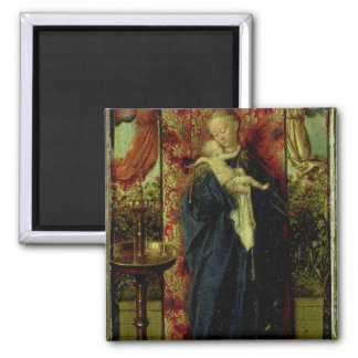 Madonna at the Fountain, 1439 Square Magnet