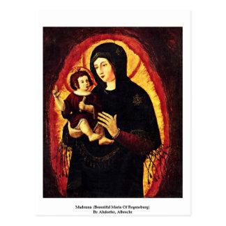 Madonna (Beautiful Maria Of Regensburg) Postcard