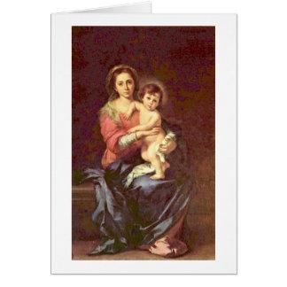 Madonna By Bartolome Esteban Murillo Card