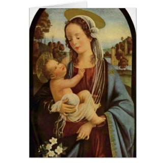 Madonna By Domenico Ghirlandaio Card