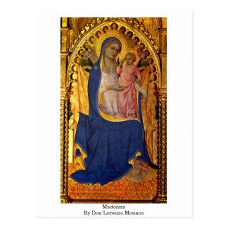 Madonna By Don Lorenzo Monaco Postcard