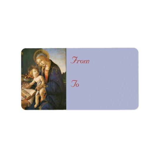 Madonna & Child Christmas Address Labels