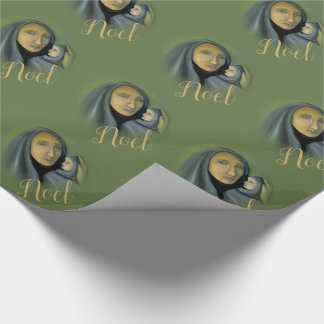 Madonna & Child Christmas Noel Wrapping Paper