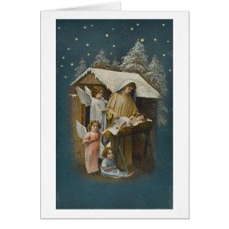 Madonna, Child Jesus and Angel Christmas card