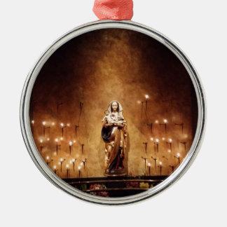 Madonna & Child Metal Ornament