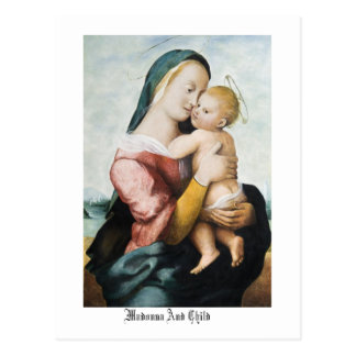 Madonna & Child Post Card