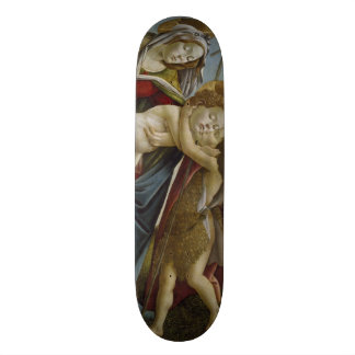 Madonna, Child, St John the Baptist by Botticelli Skateboard Decks