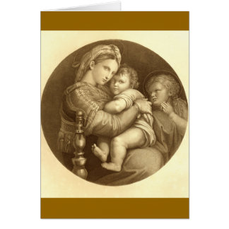 Madonna & Children Card