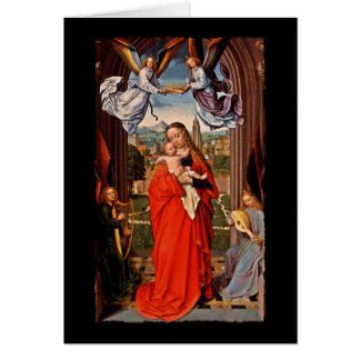 Madonna Christ Child and Angels Card