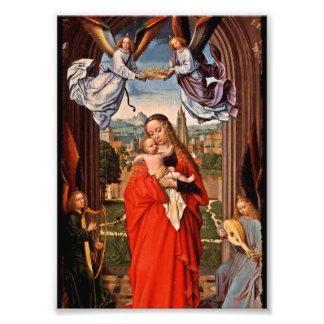 Madonna Christ Child and Angels Photo