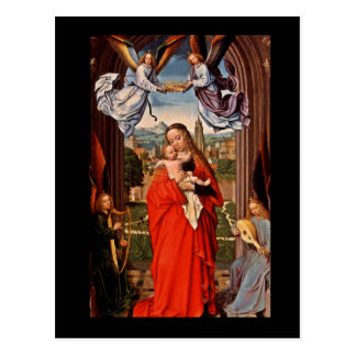 Madonna Christ Child and Angels Postcard