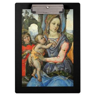 Madonna Christ Child Saint Joseph and Angel Clipboard