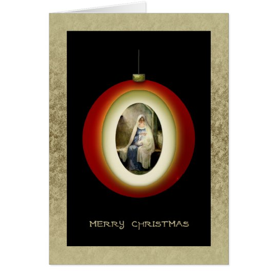 Madonna Christmas Ornament Card