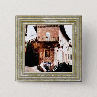 Madonna In A Grotto In Italy 15 Cm Square Badge